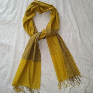 Eileen Fisher 100% Organic Cotton Yellow Scarf